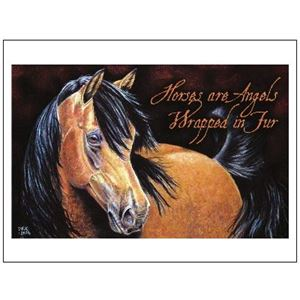 Picture of Sympathy Card 12 Pack-Angel Horse (PA26)