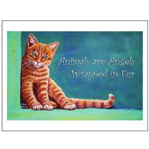 Picture of Sympathy Card Single-Angel Cat (PA30)