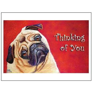 Picture of Sympathy Card Single-Thinking Dog (PA32)